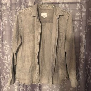 Gray denim wash american eagle top